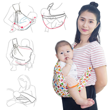 Baby Wrap Carrier Newborn Sling Dual Use Infant Nursing Cover Carrier Mesh Fabric Breastfeeding Carriers Up to 55 lbs (0-24M)