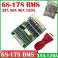 Защитная плата литий-ионного аккумулятора 6S к 17S BMS 24 в 36 в 48 в 60 в 3,2 В LiFePO4 3,7 в 7S 8S 10S 12S 13S 14S 16S 50A 80A 120A