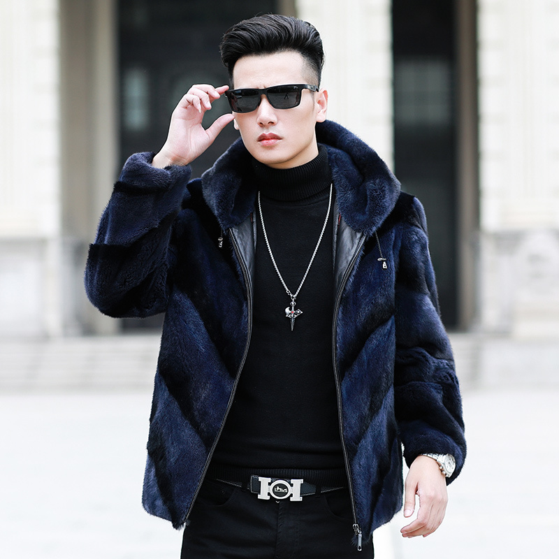 2020 Real Fur Coat Natural Mink Fur Coat Winter Jacket Men Clothes Mens Real Shearling Warm Outwear Veste Homme 2101 YY658