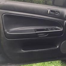 For VW Passat B5 1998 1999 2000 2001 2002 2003 2004 2006 2006 4pcs microfiber leather door armrest panel cover trim accessories