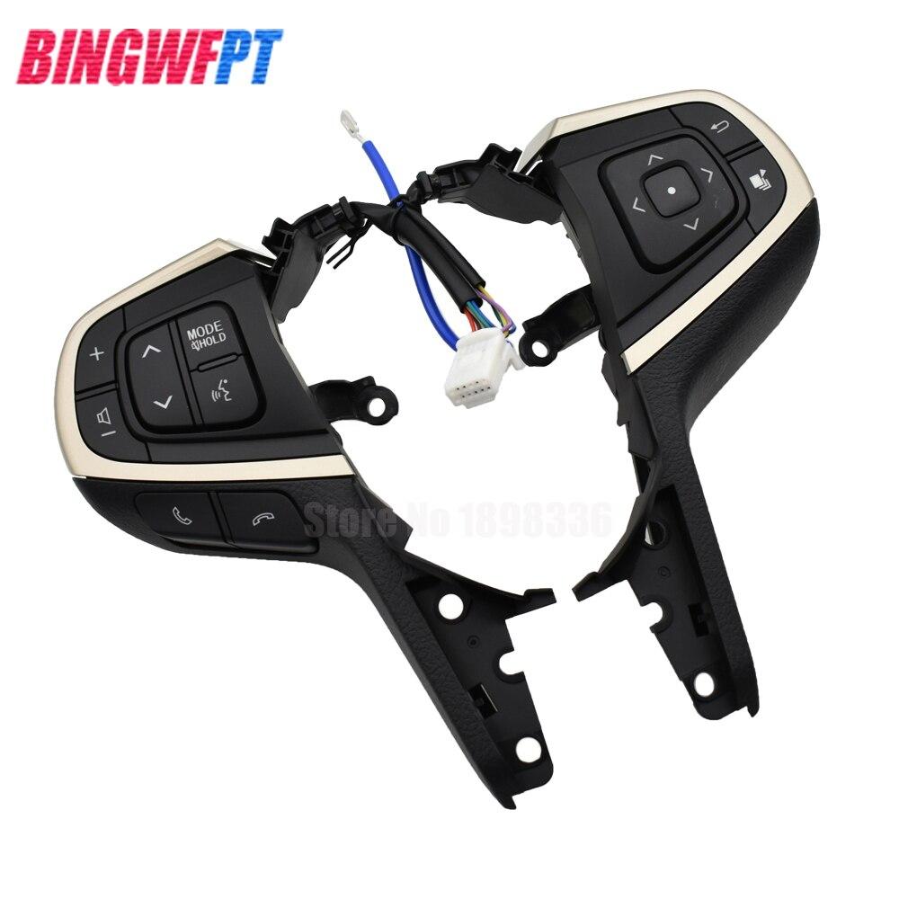 Pièces d'auto pour Toyota Innova volant régulateur de vitesse boutons commutateurs interrupteur noir multifonction - 4