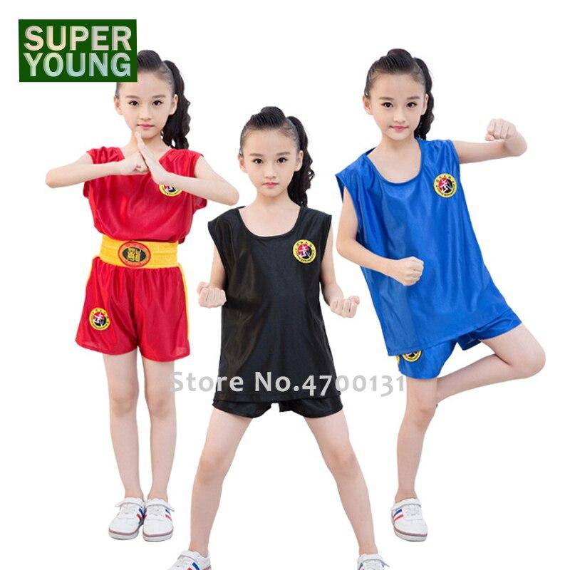 Grappling Children MMA Kick Boxing Shirts Men Women Tiger Muay Thai Shorts Kids Fight Wear Training Uniform Kickbox Clothing Set