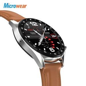 Image 4 - Microfones relógio inteligente l7 pressão arterial/bluetooth/gps/monitor de sono relógio inteligente fitness men women