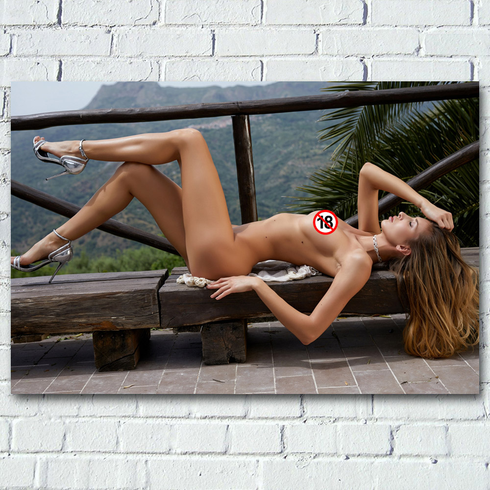 Sexy woman model body outdoor high heel Photo Wall Art Posters and Prints Canvas Art Painting For Room Decor 1