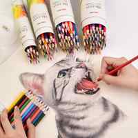 2020 Sharkbang 12/24/36/48 Wood Colored Pencil With Free Pencil Sharpener Lapis De Cor Artist Painting Sketch Oil Color Pencil