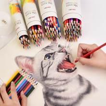 Sharkbang 12/24/36/48 lápis colorido com apontador de lápis livre lapis de cor artista pintura esboço a óleo água cor lápis conjunto