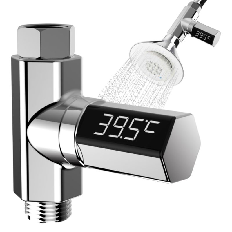 LED Display Home Water Flow Faucet Shower Thermometer Temperature Monitor Baby A5YD