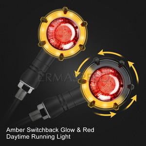Image 2 - 2Pair Motorcycle Turn Signals LED Flashing Accessories Blinkers Lamp Indicators Sequential Turn Lights for Yamaha mt 07 fz16 fz6