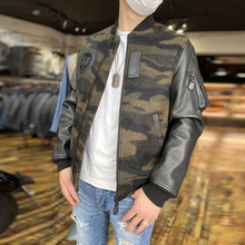 Coat Wool-Jacket Sheep Mens Genuine Casual Big 300 Skin-Sleeve Us-Size Super-Offer Camouflage