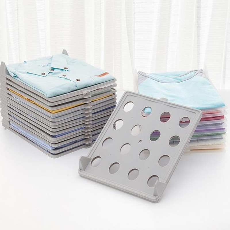 10pcs/set Clothing Storage Board Stackable <font><b>Organizer</b></font> <font><b>for</b></font> <font><b>Shirt</b></font> Home Storage Organization Space Separation Tool H1234 image