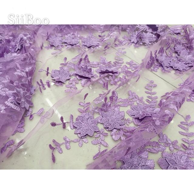 Tissu en maille pour robe de soirée | Tissu brodé en 3D multicolore, tissu en dentelle verte et grise, tela pour couture, livraison gratuite, SP4263
