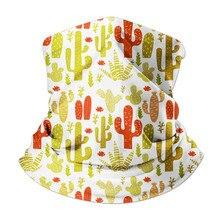 Hijab Scarf For Women Men Cactus Pattern Anti Dust Windproof Unisex Elastic Magic Headband Hair Wristband Bufanda Hombre