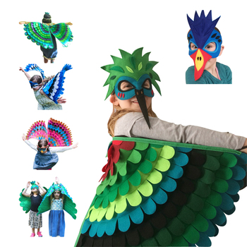 Halloween Costume for Kids Owl Bird Wing with Mask Haloween Boy Girls Fancy Animal Outfit Night Toddler New Gifts Child - sale item Costumes & Accessories