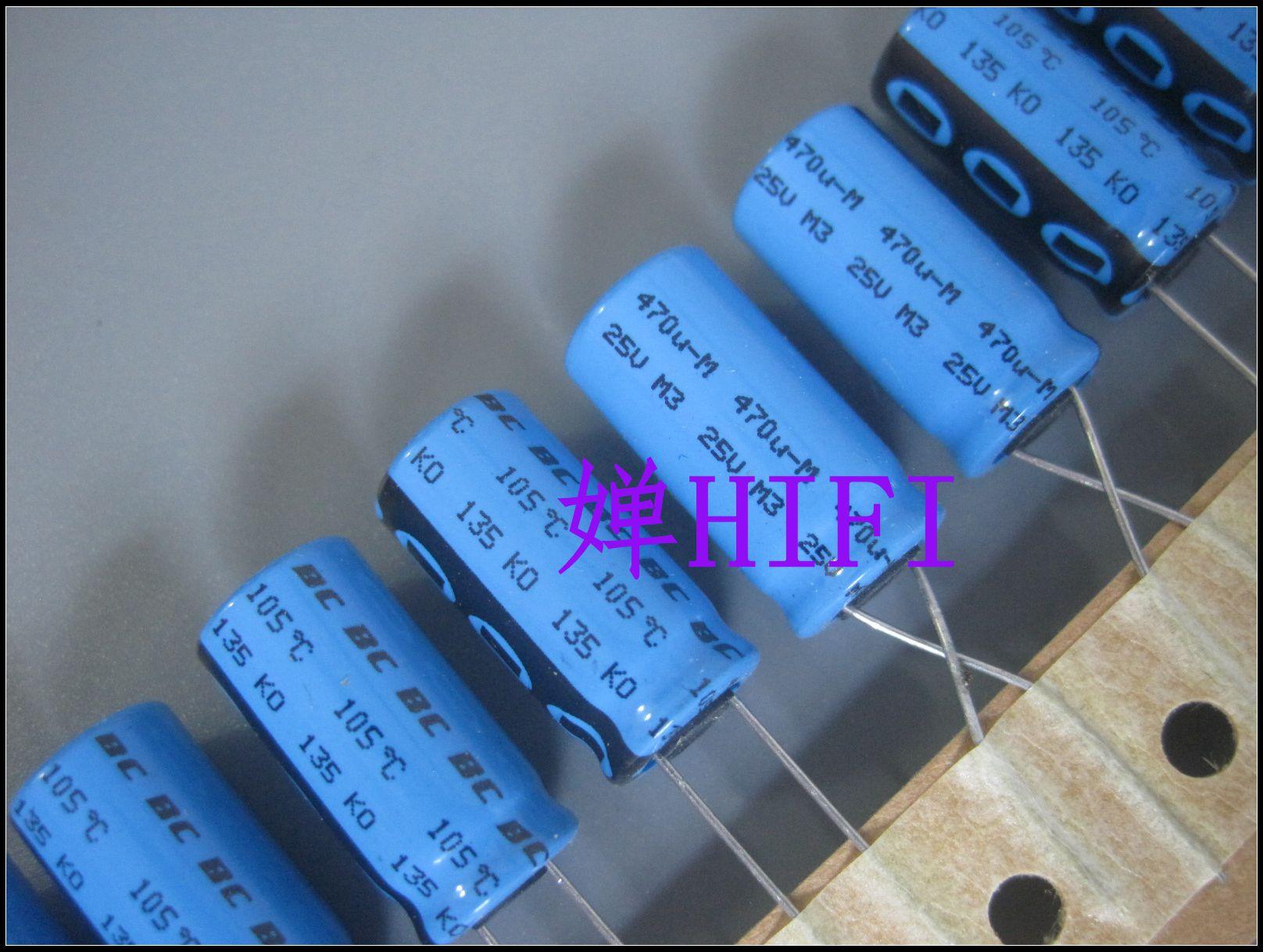 10 pces novo vishay bc ko135 25v470uf 10x20mm capacitor eletrolítico ko 135 470uf 25v 470 uf/25 v 135ko ph 25v 470uf