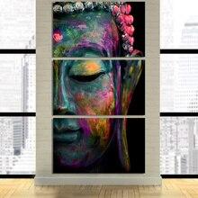 Плакат с HD-печатью, 3 шт., настенное искусство на холсте, абстрактная картина с изображением дзен, Будды, модульная Настенная картина, холст, х...