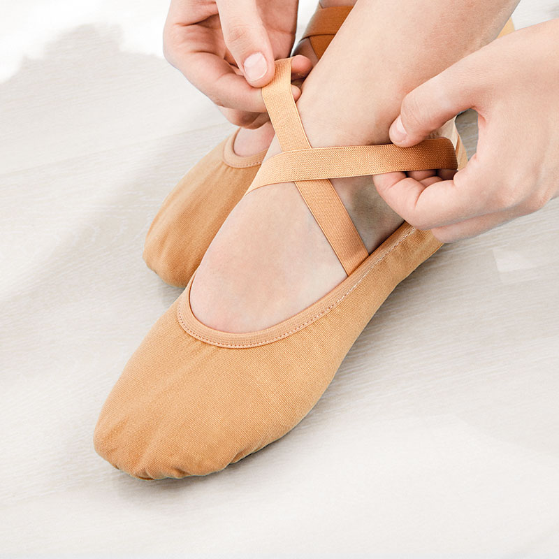 Girls Women Soft Sole Ballet Gymnastics Shoes Canvas Dance Shoes Kids Children Ballet Slippers