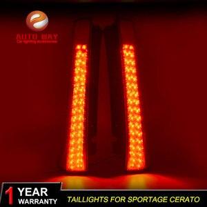 Image 3 - רכב סטיילינג זנב אורות LED בלם אורות אזהרת אורות מקרה עבור KIA Sportage cerato sportageR Ceed 2007 2014 פנסים אחוריים