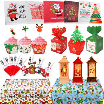 Christmas Decoration Candy Gift Box Merry Christmas Navidad New Year Tablecloth Napkins For Home Christmas Cake Decor Natal Xmas