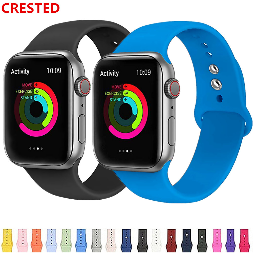 Strap For Apple Watch Band 44 Mm/40mm 42mm 38mm Bracelet Silicone Pulseira Watchband Applewatch Iwatch 5 4 3 Correa 44mm Series