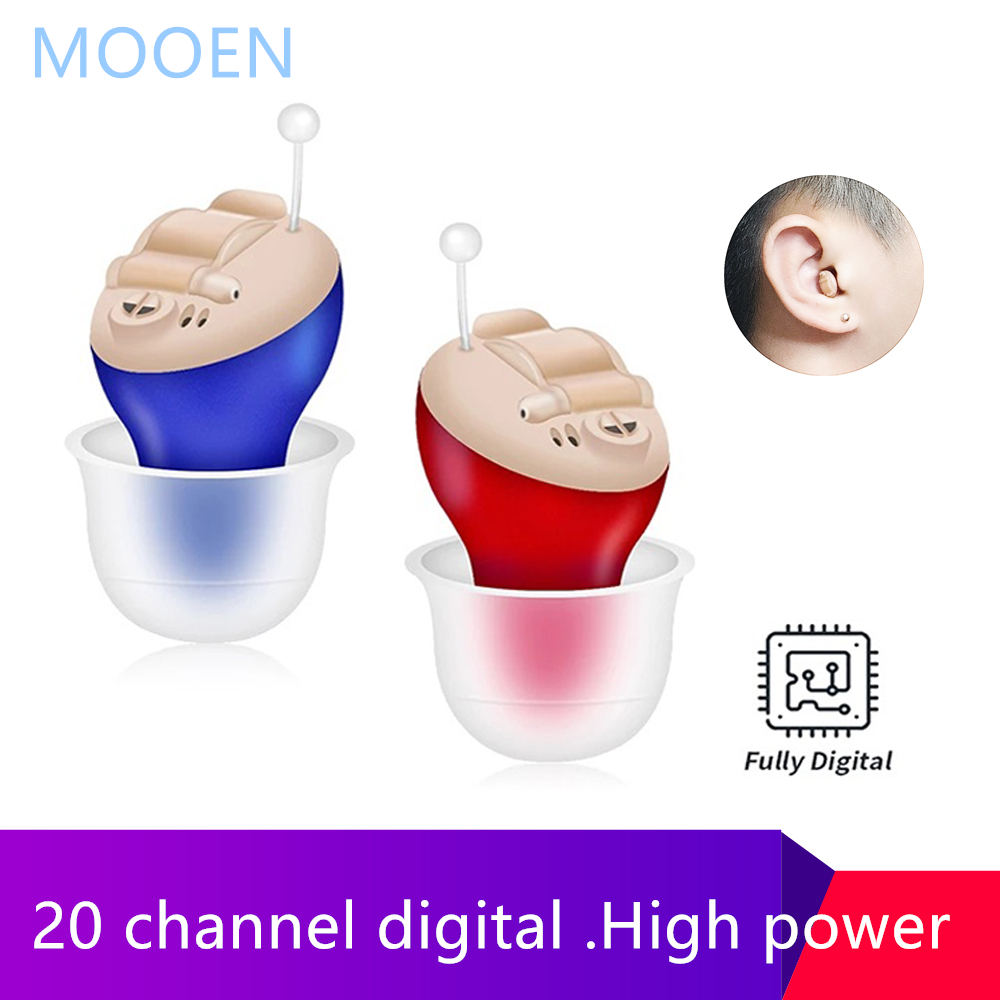 20 Channel Best Mini CIC Hearing aid Invisible Sound Amplifier Volume Adjustable Ear Hearing Assistant Helper for Deaf Elderly