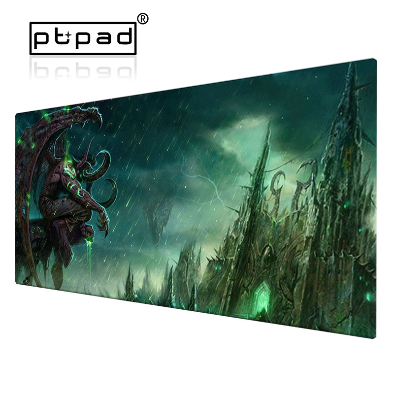 800*300*2mm Large XL Gaming Worlds Of Warcrafts Locking Edge Computer Mousepad Game WOWs Dragon PC Desk Mat Gamer Play Mouse Pad