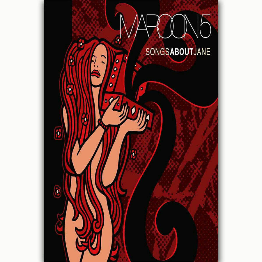 New Maroon 5 Songs About Jane Music Silk Fabric Wall Poster Art Decor Sticker Bright image