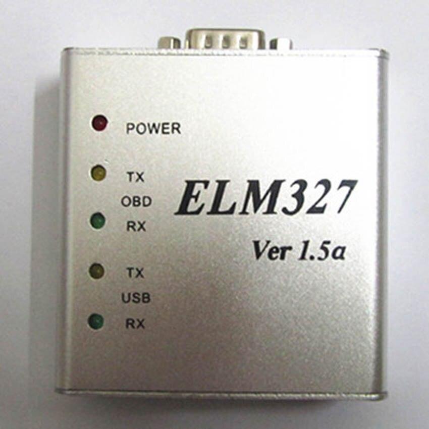 2019 New ELM327 V1.5 USB Metal Aluminum PIC18F25k80 Chip OBD2 Auto Diagnostic-Tool ELM 327 Al Code Reader Scanner