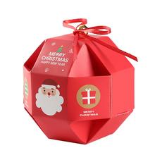 AsyPets 10 Pcs/Set Merry Christmas Candy Box with Bells Paper Container