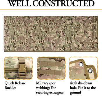 Outdoor Camping/Hunting Training EDC Tactical Shooting Mat Shooters Lightweight Roll-Up Military Airsoft Gun Pad Accessories 4