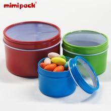 24-piece Multi-Size Mini Tinplate Cans mimipack Deep Round Storage Empty Tin boxes