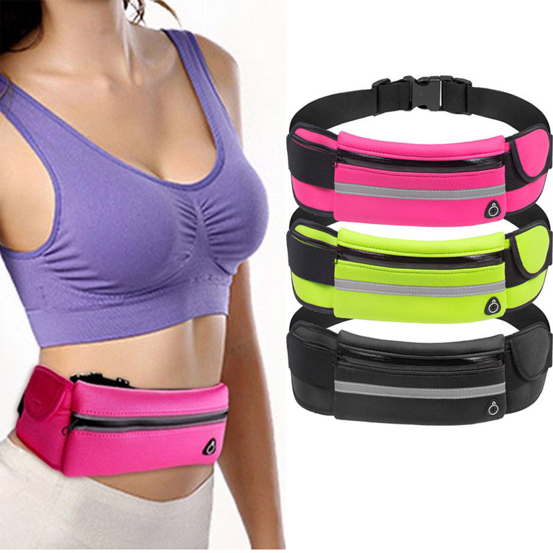 Fashion Women Chest Waist Bags Bum Fanny Pack Belt Phone Money For Running Jogging Cycling Sports Waterproof Bags