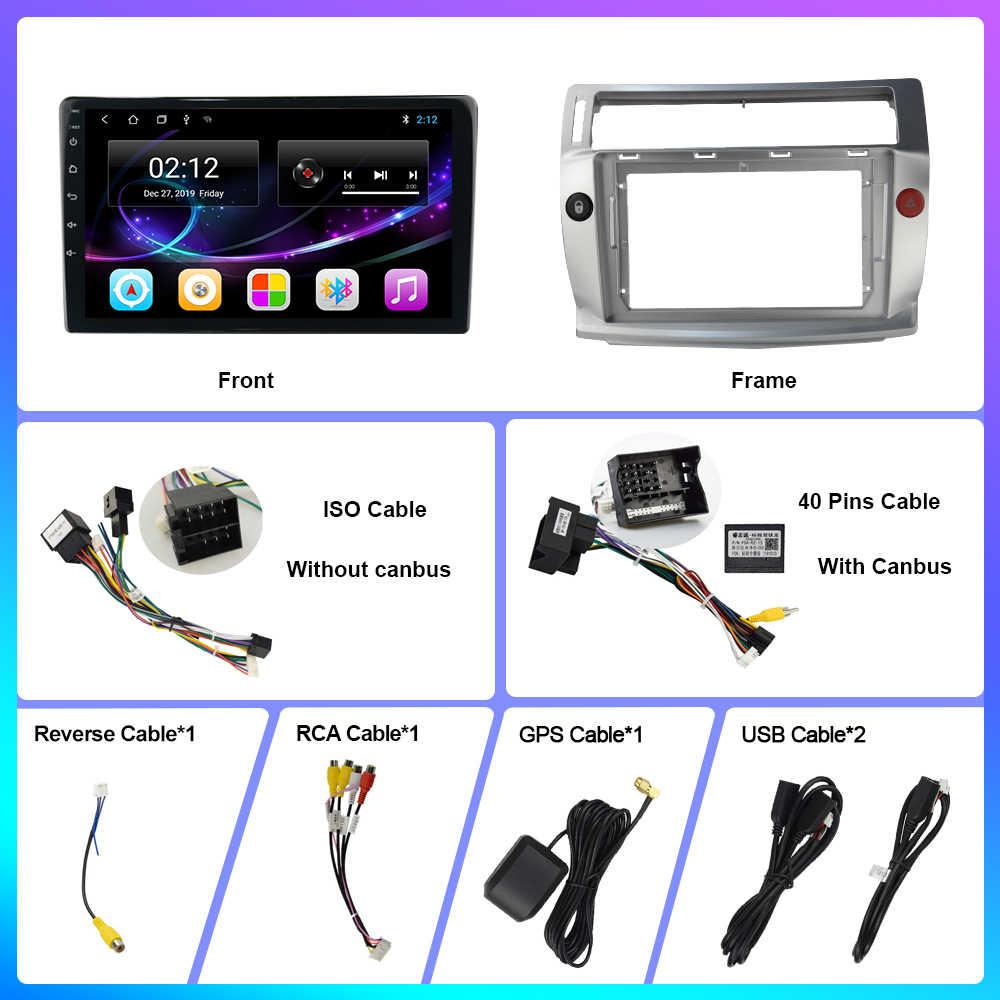 Oknavi 2 din 2.5D + ips アンドロイド 9.0 カー dvd ラジオマルチメディア gps ナビゲーションシトロエン C4 c-triomphe で c-キャトル 2004-2009 ステレオ