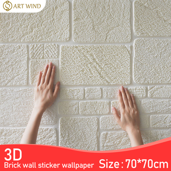 цена на 3D Wall Stickers Thick Living Room Wall Bedroom Decoration Room Simulation Brick Pattern Personality Creative Anti-collision