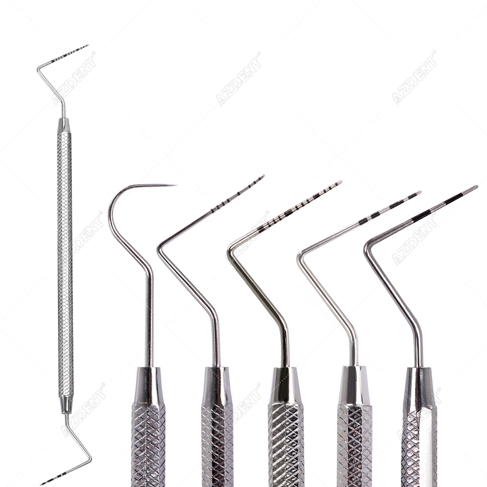 1pc Dental Stainless Steel Periodontal Probe With Scaler Explorer Instrument Tool Endodontic Equipment Material Probe