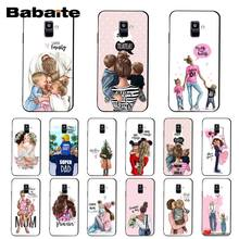 Babaite Fashion Black Girl Koningin Moeder En Baby Telefoon Case Voor Samsung Galaxy A7 A50 A70 A40 A20 A30 A8 a6 A8 Plus A9 2018(China)