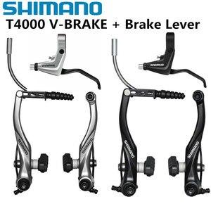 Shimano alivio BR T4000 M4000 V-brake Brakes Lever M442 V-brake BL T4000 Brake Lever Bicycle Brake Road Folding bike V Brake(China)