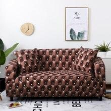 Housse extensible pour canapé et fauteuil, style moderne, taie doreiller