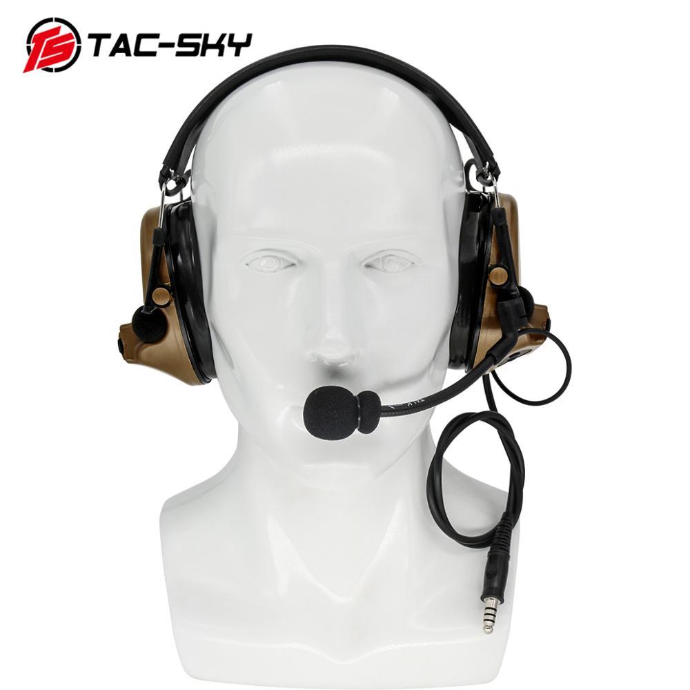 Купить с кэшбэком TAC-SKY COMTAC II silicone earmuffs version outdoor sports noise reduction pickups military shooting earmuffs tactical headsetCB