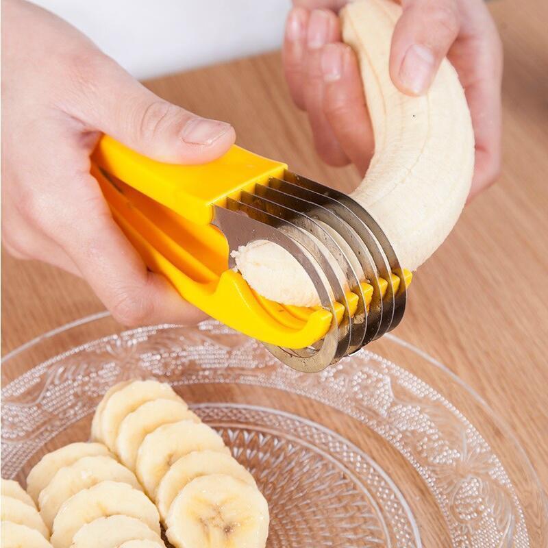 Wonderlife домашний кухонный инструмент Овощечистка салат ломтик из нержавеющей стали нож для бананов измельчитель фруктов резак нож для резки ...
