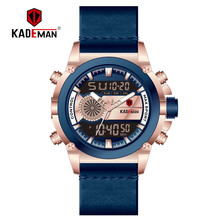 KADEMAN 2019 Men Watch Sport Digital Luxury TOP Brand Dual Display LCD Wristwatch Military Man Automatic New Fashion Clock