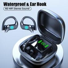 Bezprzewodowe słuchawki Bluetooth sportowe wodoodporne słuchawki bezprzewodowe słuchawki dotykowe słuchawki TWS słuchawki z mikrofonem
