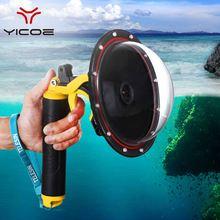 Go Pro Dome Poort Voor GoPro Hero 4 3 + 3 Onderwater Waterdichte Case Drijvende Grip Trigger Dome Lens Dome cover Behuizing Accessoires