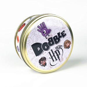 New Dobble Spot It Card Game Toy Iron Box Hermione Sport Go Camping Hip Kids Board Game Gift