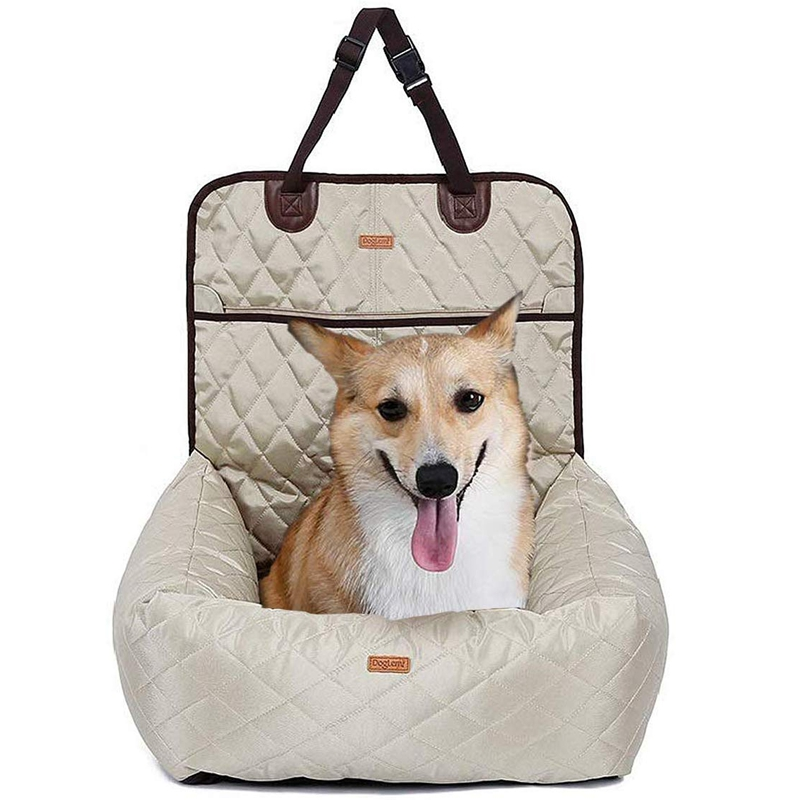 Dog Car Seat - 2-In-1 Pet Car Seat Cover, Waterproof And Antiskid, Removable Cover And Cushion, Very Suitable For Cars, Trucks A