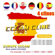 Europa najbardziej stabilna Cccam dla hiszpanii portugalia niemcy 4 linie obsługują odbiornik telewizji satelitarnej cccams set top HD 48h darmowy test tanie tanio GT MEDIA DIGITAL clines DVB-S2 Satellite TV Receiver