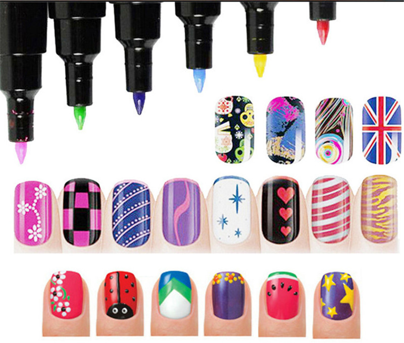 DIY 7ml UV Gel Nail Polish 16 Colors Nail Color Nail Varnish Pen Art Color Gel Matte Nail Gel