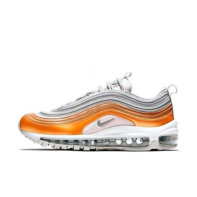 US $77.49 59% di SCONTO|Nike Air Max 97 Og Qs Dei Nuovi Uomini di Arrivo Traspirante Runningg Scarpe Pigiatura Oro E Argento Della Pallottola Sneakers