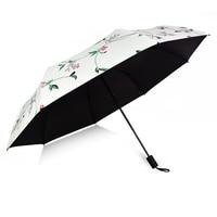 Nowa podwójna warstwa trzy/pięć składane parasol anty uv parasol automatyczny deszcz kobiety wiatroszczelna słońce kobiety parasol firmy w Parasole od Dom i ogród na