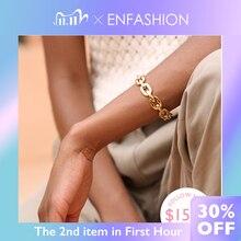 Enfashion, чистая форма, средняя цепочка, браслеты на запястье и браслеты для женщин, золотой цвет, модные ювелирные изделия, ювелирные изделия, Pulseiras BF182033
