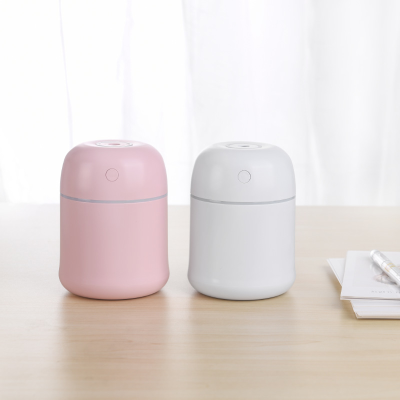 USB Mini Air Humidifier Ultrasonic Essential Oil Aroma Diffuser 80ml Humidifier LED Light Mist Maker For Home